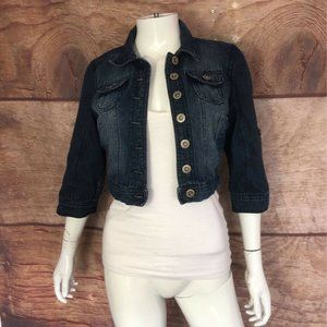Highway Jeans Denim Cropped Jacket Blue Small